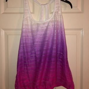 Tops - Ombre workout/bikini top cover up!